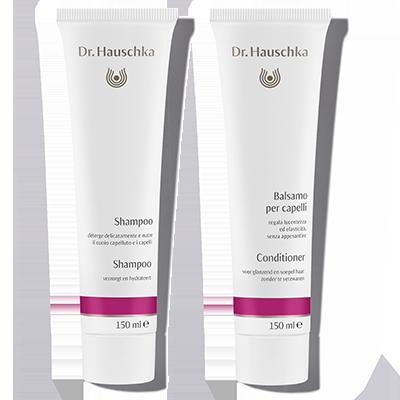 Nieuw in onze haarverzorgingslijn: Shampoo en Conditioner. De Shampoo reinigt zacht, de Conditioner verzorgt tot in de punten.