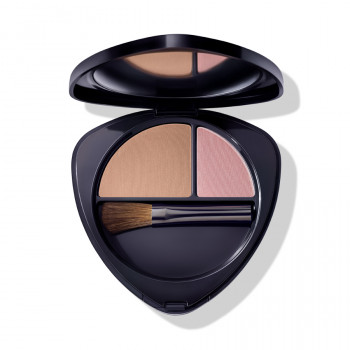 Dr. Hauschka make-up rouge Blush Duo 03 sun-kissed nectarine